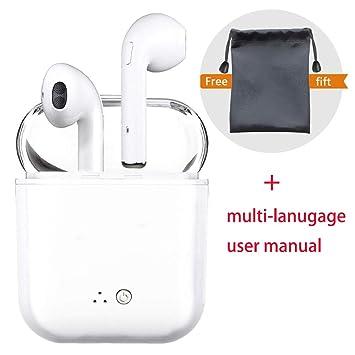 Auriculares inalámbricos, Auriculares Bluetooth, estéreo Real con Auriculares y micrófono Auriculares Bluetooth para iPhone Samsung Huawei xiaomi, teléfono, ...