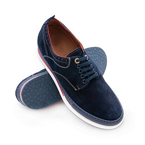 Qui pour Marine augmentent Votre Chaussures Réhaussantes Bleu cms Chaussures Homme Taille 7 Zerimar des Plus pzqAA6
