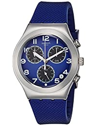 Swatch Men's Irony YCS594 Blue Rubber Swiss Quartz Dress Watch