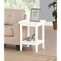 Convenience Concepts 501045W End Table, White