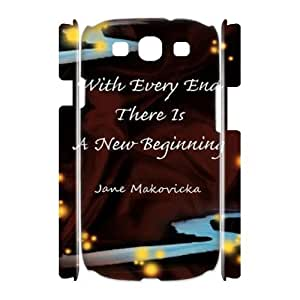 every end is a new beginning Cheap 3D Hard Back Cover Case for Samsung Galaxy S3 I9300,diy every end is a new beginning Cell Phone Case