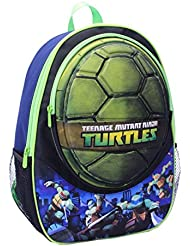 Teenage Mutant Ninja Turtles Shell 16 Inch Deluxe Backpack with Front Zip Compartment