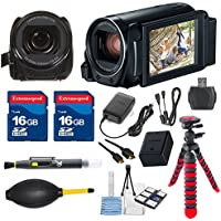 Canon VIXIA HF R800 HFR800 Camcorder with 2 pieces 16GB Memory Cards & Deluxe Accessory Bundle - International Version