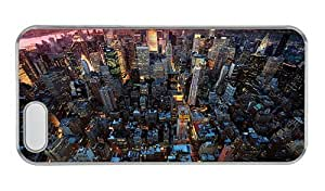 Hipster iphone 5 case awesome cover nyc new york city PC Transparent for Apple iPhone 5/5S