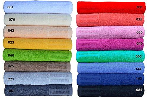 Handtücher Serie Venecia in 16 Farben, Waschlappen, Seiflappen, Gästetuch, Handtuch und Duschtuch Farbe 163 royal, Grösse Seiflappen 30x30 cm