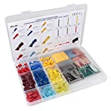 400 PCS Electrical Terminals Kit Cold-Pressed Wire Connectors Heat Shrink Tubes with Box - Electrical Equipment & Supplies Connectors & Terminals - 1x 400Pcs Electrical Terminals Kit