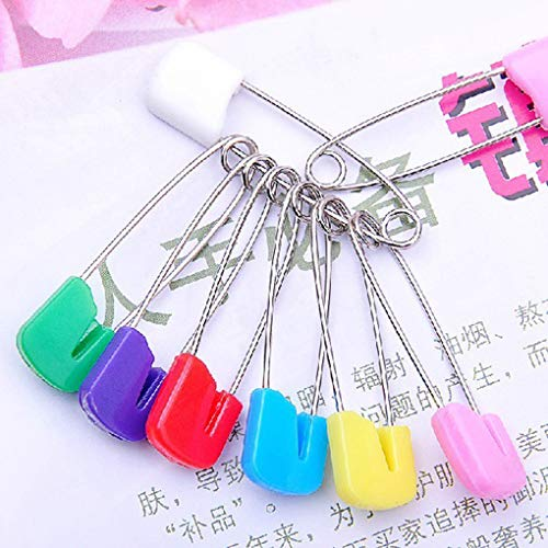 dianpo Multi-Purpose Baby Safety Pins Fabric Diapers Garment Repair Child Proof Safety Pin Plastic Head Random Color