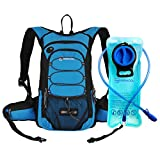 MIRACOL Hydration Backpack 2L Water Bladder, Thermal Insulation Pack Keeps Liquid Cool up to 4 Hours, Prefect Outdoor Gear Skiing, Running, Hiking, Cycling (Blue)