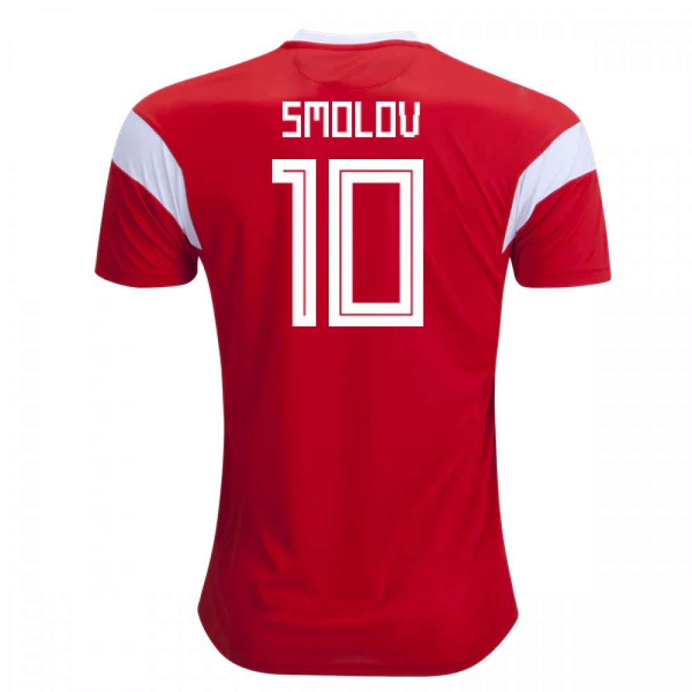 2018-19 Russia Home Football Soccer T-Shirt Trikot (Fyodor Smolov 10) - Kids