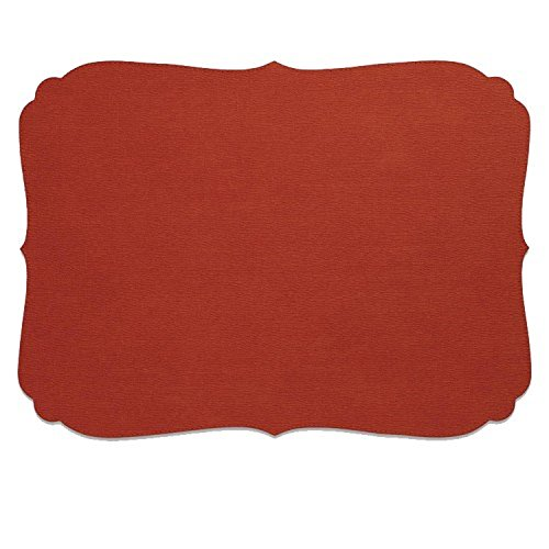 Bodrum EasyCare Presto Curly Paprika Rectangle Placemats (Tablemats) set/6 by Bodrum