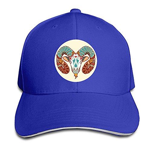 [Unisex Arieszodiac Signs Ethnic Style Logo Adult Peaked Hat Baseball Cap] (Ethnic Hats)