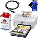 Canon SELPHY CP910 Portable Wireless Compact Color Photo Printer (White) + Canon KP-108IN Color Ink Paper Set (Produces up to 108 of 4 x 6