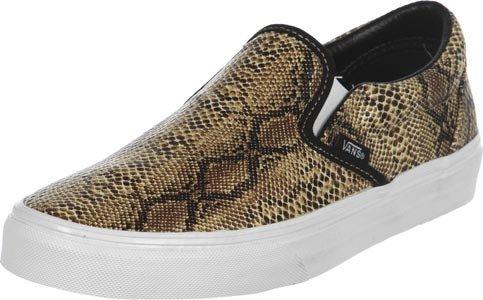 Mujer Zapatillas on Classic Vans Snake Leather Slip Azwnnx