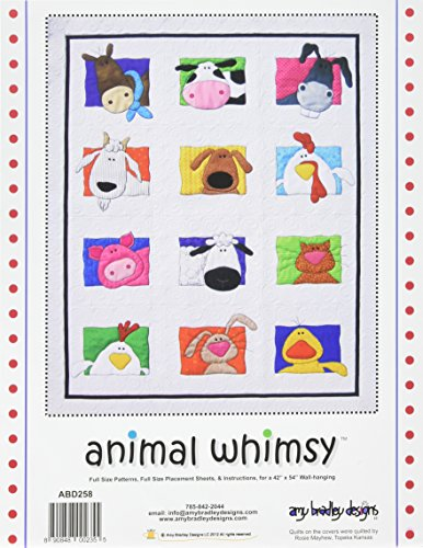 Amy Bradley Designs ABD258 Animal Whimsy Quilt Pattern