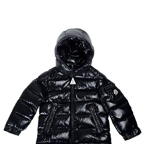 Moncler Kid's Bady Black Down Hooded Parka Jacket Moncler Size 6A US 6Years ()