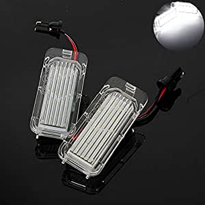 TUINCYN 18SMD LED CANBUS Error Free License Plate Light Lamp Universally Used for Ford Fiesta Focus Kuga C-MAX For Mondeo Extremely White Assembly Driving Lamp DC12V (Pack of 2)