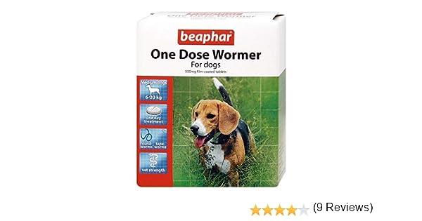 Beaphar - Pastilla desparasitadora de una sola dosis para perros medianos - Lote de 2 pastillas: Amazon.es: Productos para mascotas