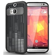 [Melody] TUDIA HTC The All New One Plus (M8) / HTC One 2 Case Ultra Slim Melody TPU Bumper Protective Case for HTC M8 (2014) (Black)
