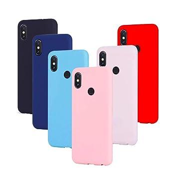 MixMiu 6 x Funda Xiaomi Redmi Note 5 Silicona Carcasa Ultra Delgado Gel Fundas Suave TPU Protectora Caso Anti-Arañazos Cubierta De Teléfono, Negro + ...