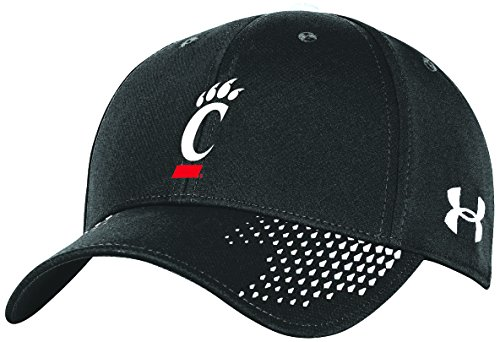 Black Ncaa Cap (Under Armour NCAA Cincinnati Bearcats Adult Unisex NCAA Renegade Adjustable Cap, One Size, Black)