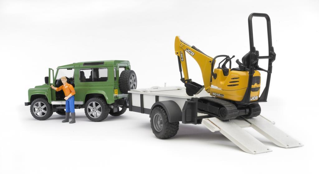 Bruder 02593 Land Rover Defender Vert Avec Une