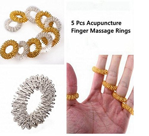 Massage Table Gold Package (5 Pcs Acupuncture Finger Health Care Massage Rings by)