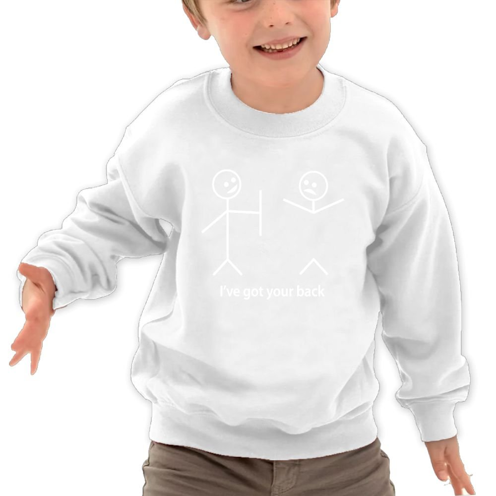 I Got Your Back children Cotton Hoodie Round Collar Long Clothing