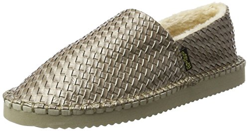 Donna Taupe Metallic Grigio flop Flippadrillabraid 8003 Espadrillas flip n68xZw