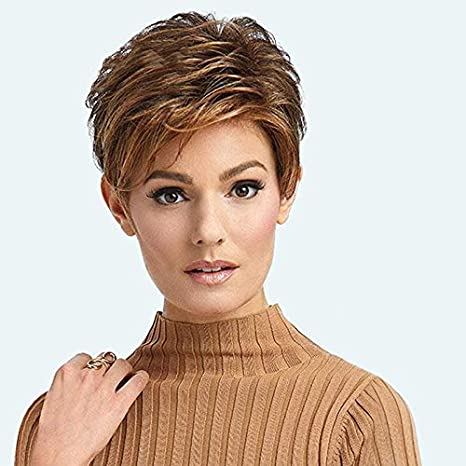 Amazon Com Bywigs Synthetic Short Curly Hair Natural Brown