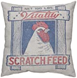 Primitives by Kathy Scratch Feed Pillow, 12 by 12-Inch