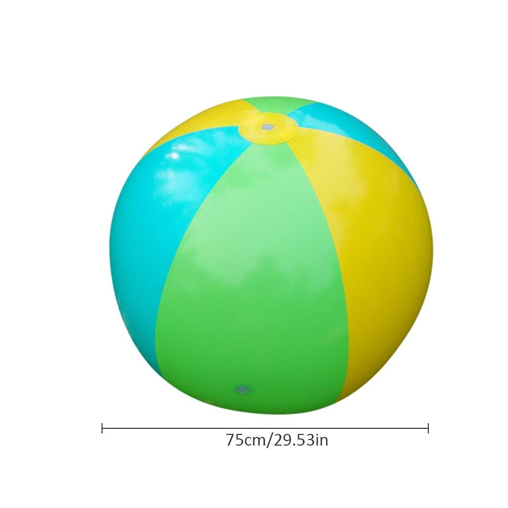 75cm Summer Children's Outdoor Water Game Ball Spraying Water Beach Ball Lawn Game Toy Large Inflatable Water Jet Ball
