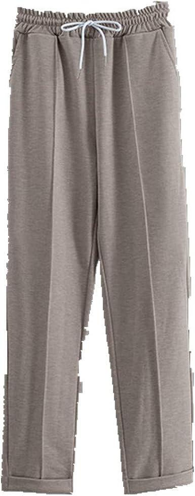 Pantalones De Trabajo De Pierna Solida Con Cordon Elastico De Cintura Alta Para Mujer Amazon Es Ropa Y Accesorios