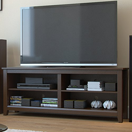 "Ryan Rove Mission 58"" Modern Wood Storage TV Stand Console Entertainment Center in Espresso"