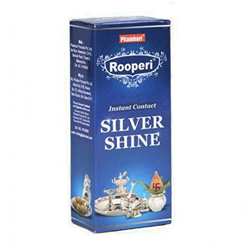 Pitambari Rooperi Instant Contact Silver Shine 100 ml For Silver jewelry, pooja utensils or other silver materials (Pack of 2)