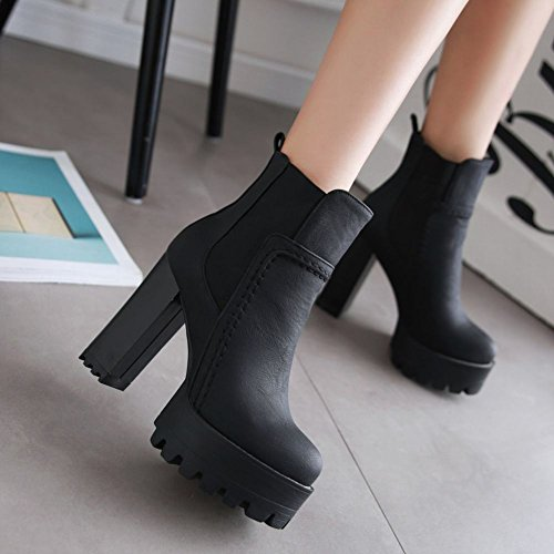 Mee Shoes Womens High-heel Chic Ankle-high Boots Black yul0URgR1Q
