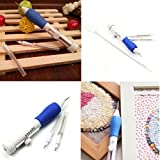 Arts & Crafts : KINGSO Magic Embroidery Pen Embroidery Stitching Punch Needle Set Craft Tool Knitting Sewing Tool for Embroidery Threaders
