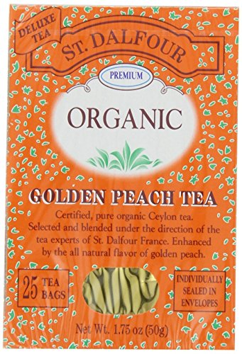 (St. Dalfour Organic Tea, Golden Peach, 25 ct )