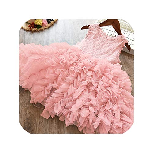 Children Formal Kids Fluffy Cake Smash Dress Girls for Christmas Halloween Birthday,Light -