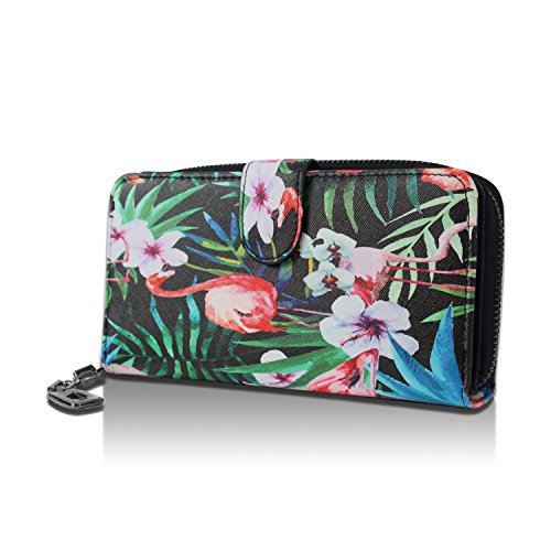 Bourse Floral monnaie Flamingo Style Vintage Glamexx24 Porte Bluemchen Motif Avec Portefeuille wB8I84