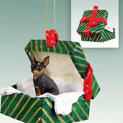 Miniature Pinscher Green Gift Box Dog Ornament ()