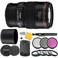Canon EF 100mm f/2.8L IS USM Macro Lens + 3 Piece Filter Set + 4 Piece Close Up Macro Filters + Lens Cleaning Pen + Pro Accessory Bundle - 100mm Macro IS USM 2.8L - International Version (No Warranty)
