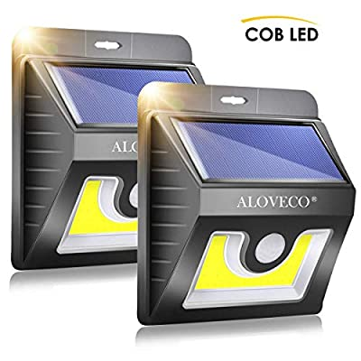 Solar Wall Lights Outdoor Motion Sensor, Super Bright COB 36 LED Wireless Waterproof Solar Porch Lights, Solar Security Light for Porch Patio Yard Deck Stairway Driveway