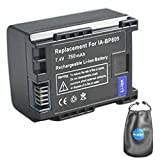 Digital Replacement Camera and Camcorder Battery for Canon BP-809, BP-807, BP-808 - Includes Lens Pouch