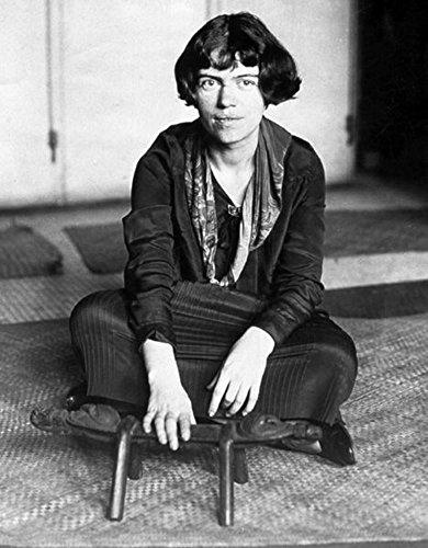 Margaret Mead sitting on the floor Poster Art Print