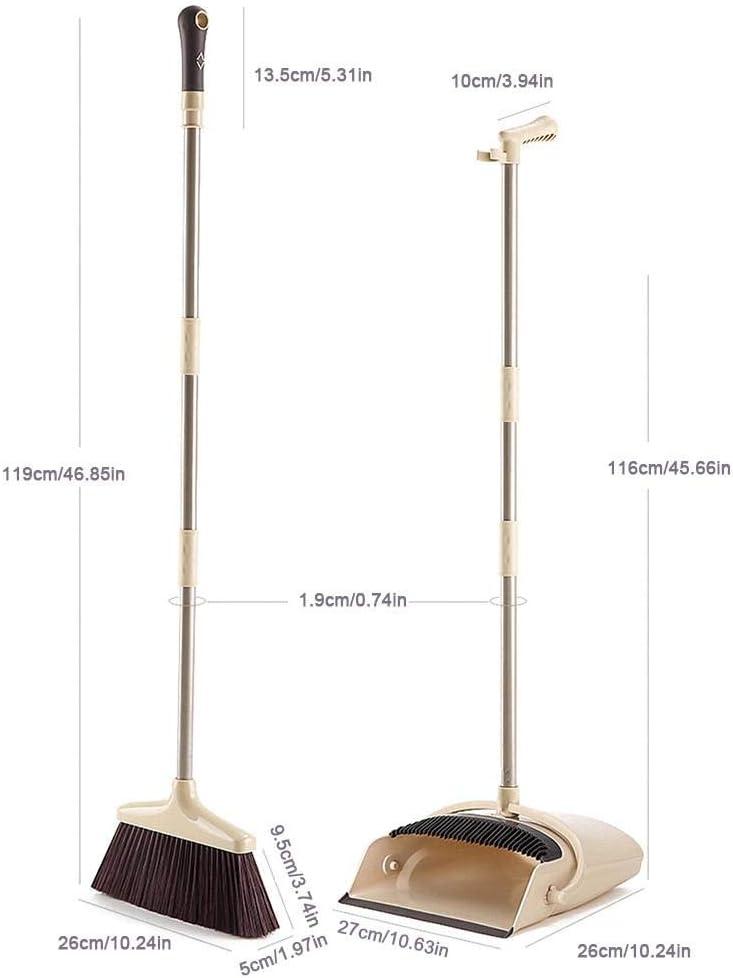 Godya Scopa E Paletta per La Spazzatura Set Paletta per La Spazzatura Antivento con Strumento di Pulizia dei Denti A Pettine per La Hall Dellhome Office