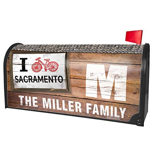 NEONBLOND Custom Mailbox Cover I Love Cycling City Sacramento]()
