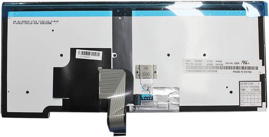 Gintai Tastiera di ricambio posteriore per Lenovo T440 T450 T450s L440 L450 T460 T440p T440S L470 E431 E440 04X0151