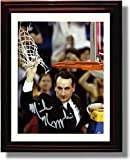 Framed Duke 2015 National Champions Coach Mike Krzyzewski ''Cutting the Net'' Autograph Replica Photo