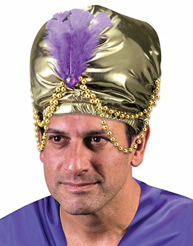 (Sultan Turban with Bead Trim Arabian Costume)