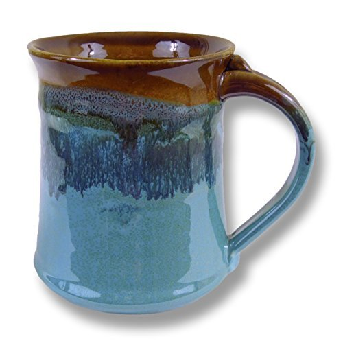 Pottery Mug - Clay In Motion Handmade Ceramic Medium Mug 16oz - Ocean Tide